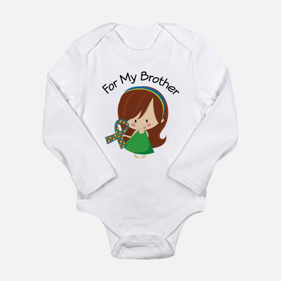 Autism For My Brother Long Sleeve Infant Bodysuit