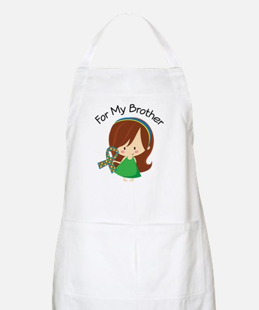 Autism For My Brother Apron