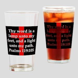 Psalms 119:105 Drinking Glass