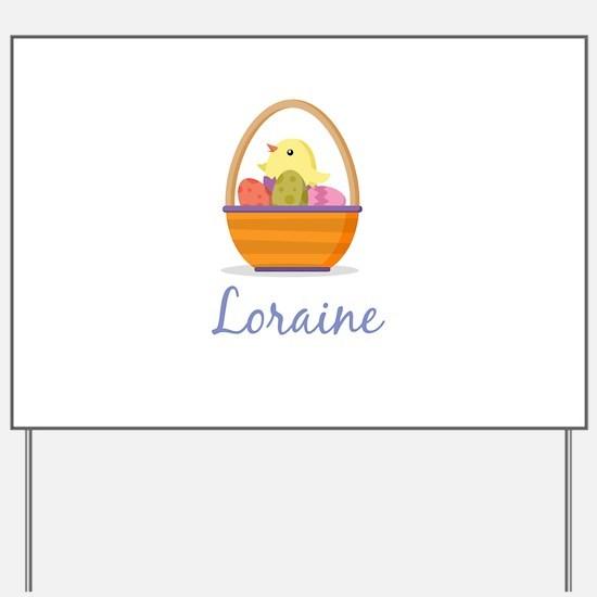 Easter Basket Loraine Yard Sign