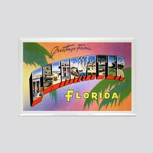 Clearwater Florida Greetings Rectangle Magnet