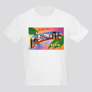 Clearwater Florida Greetings (Front) Kids T-Shirt