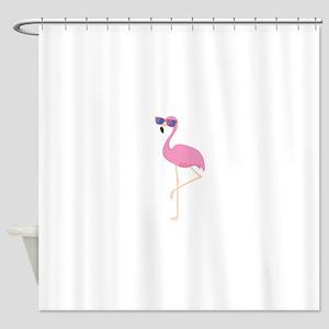 Cool Flamingo Shower Curtain