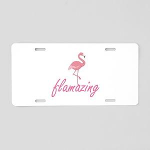 Flamazing Aluminum License Plate