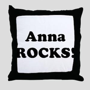 Anna Rocks! Throw Pillow