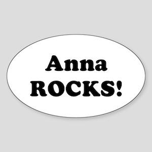 Anna Rocks! Oval Sticker