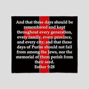 Esther 9-28 Throw Blanket