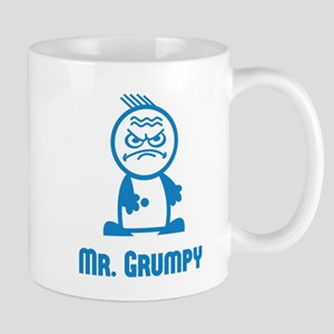 MR GRUMPY moody angry sour face icon funny Mug