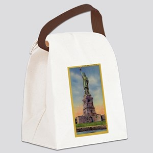 Lady Liberty Vintage NYC Canvas Lunch Bag