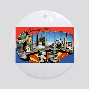 Columbia South Carolina Greetings Ornament (Round)