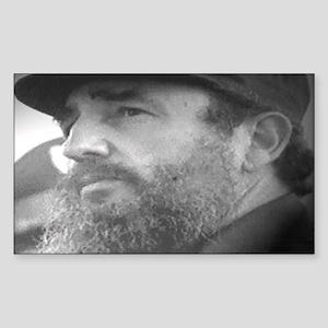 Fidel Face Rectangle Sticker