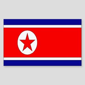 North Korea flag Rectangle Sticker