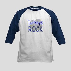 Turkeys Rock Kids Baseball Jersey