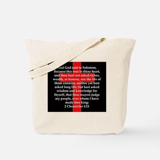 2 Chronicles 1:11 Tote Bag