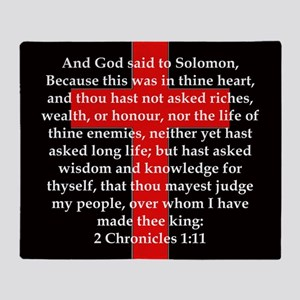 2 Chronicles 1:11 Throw Blanket
