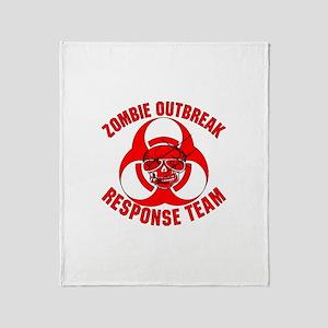 Zombie Response Team Throw Blanket