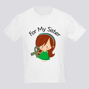 Autism For My Sister Kids Light T-Shirt