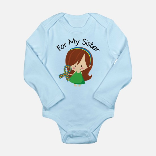 Autism For My Sister Long Sleeve Infant Bodysuit