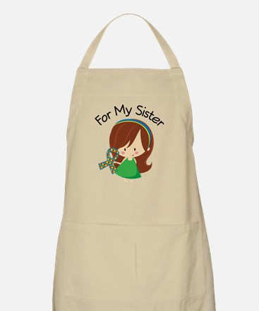 Autism For My Sister Apron