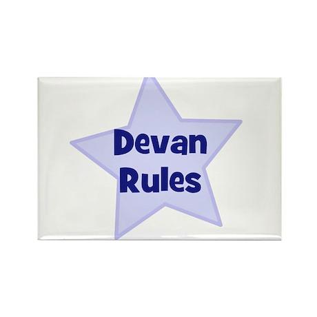 Devan Rules Rectangle Magnet (10 pack)