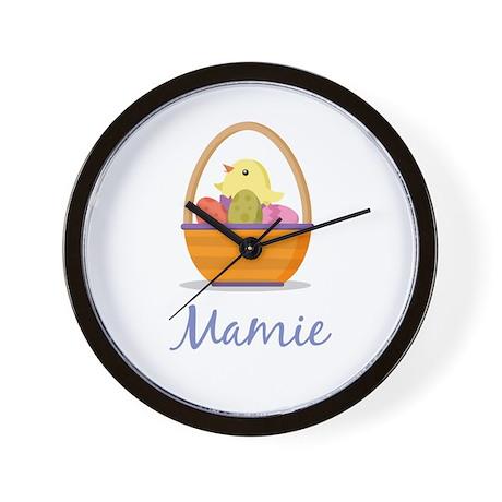 Easter Basket Mamie Wall Clock