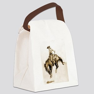 Bucking Bronco Canvas Lunch Bag
