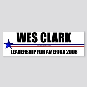 """Wes Clark 2008"" Bumper Sticker"