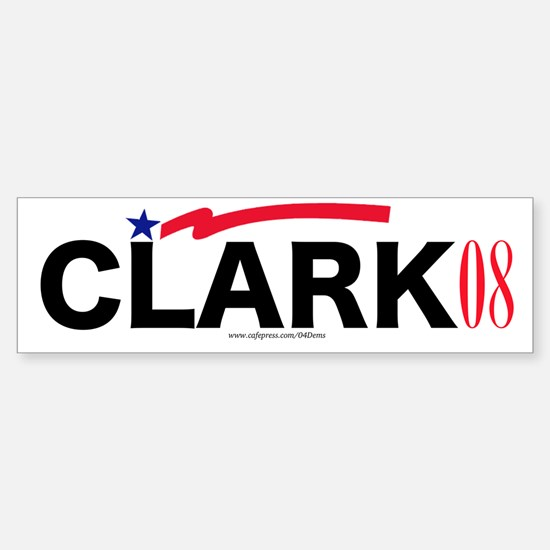 """Gen. Clark"" Bumper Car Car Sticker"