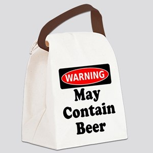 Warning May Contain Beer Canvas Lunch Bag