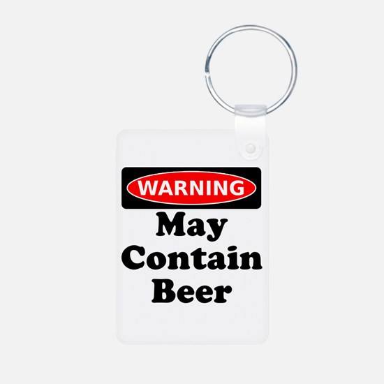Warning May Contain Beer Keychains