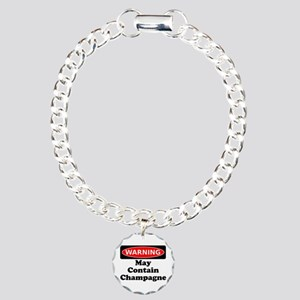 Warning May Contain Champagne Bracelet