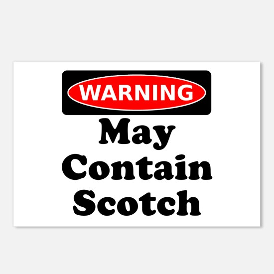 Warning May Contain Scotch Postcards (Package of 8