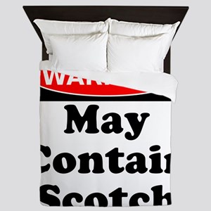 Warning May Contain Scotch Queen Duvet