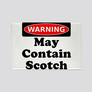 Warning May Contain Scotch Rectangle Magnet