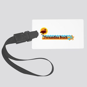 Fernandina Beach - Beach Design. Large Luggage Tag
