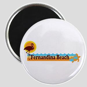 Fernandina Beach - Beach Design. Magnet