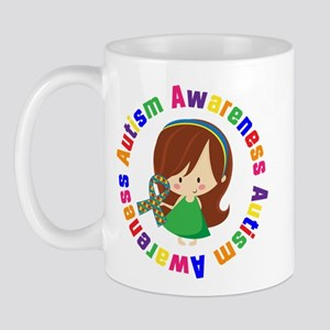 Autism Awareness Girl Mug