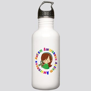 Autism Awareness Girl Stainless Water Bottle 1.0L