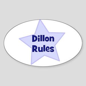 Dillon Rules Oval Sticker
