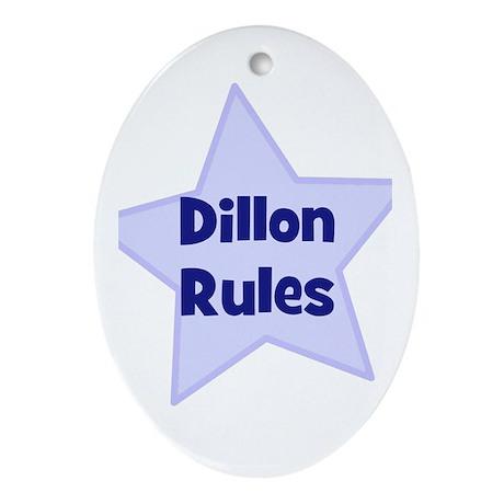 Dillon Rules Oval Ornament
