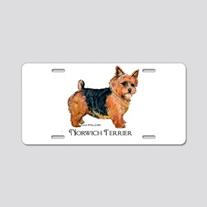 Norwich Terrier Aluminum License Plate