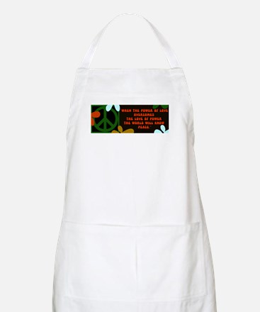 jimi retro -when the power of love... BBQ Apron