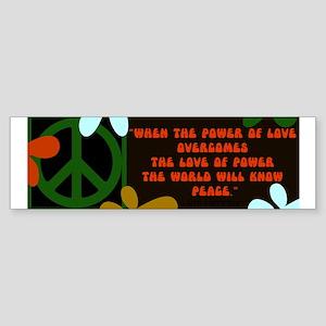 jimi retro -when the power of love... Sticker (Bum