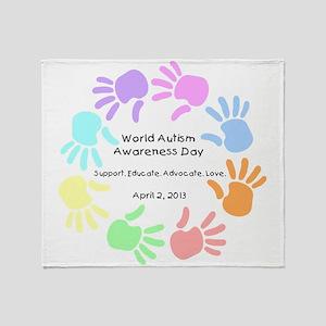World Autism Day 2013 Throw Blanket