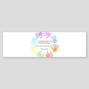 World Autism Day 2013 Sticker (Bumper)