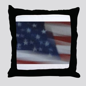 Impressions of Old Glory Throw Pillow