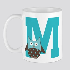Letter M Monogram Initial Owl Mug