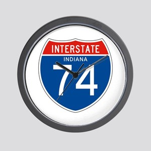 Interstate 74 - IN Wall Clock