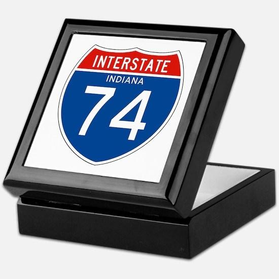 Interstate 74 - IN Keepsake Box