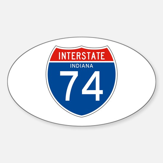 Interstate 74 - IN Oval Decal